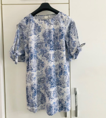 H&M plavo bijela tunika