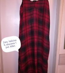 Karirana Zara haljina na bretele!