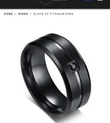 Prsten muski crni