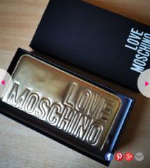 Love Moschino zlatni novčanik