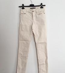 Massimo Dutti bijele/ bež hlače