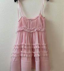 ZARA mini roza haljina od tila