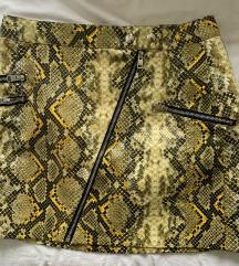 Mini suknja zmijski uzorak