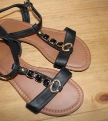 Ljetne ženske sandale crne boje