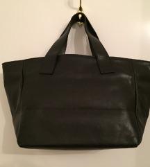 Crna kožna Guliver torba