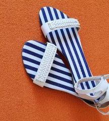 Bijele niske sandale