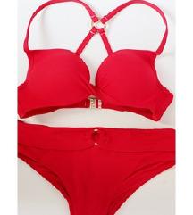 Crveni kupaći push up kostim veličina 38/40