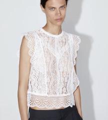%Nova Zara cipkana bluza 34