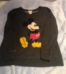 Mango tamnosiva Mickey sweatshirt majica S