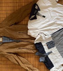 Pull&Bear kozna jakna + 1 majica