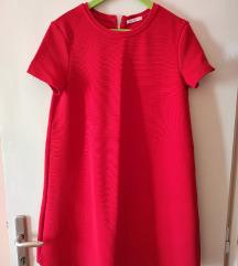 Crvena deblja široka haljina
