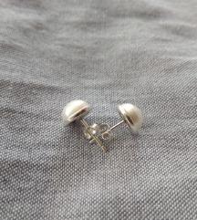 Naušnice sa biserom, srebro