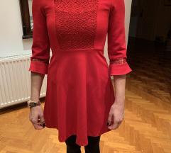 Zara haljina mini crvena XS