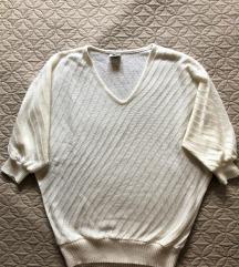Bijeli pulover - polurukav