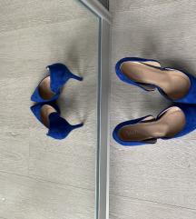 Royal blue štikle