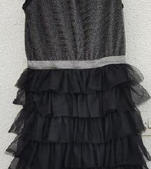 Nova H&M haljina sa šljokicama i tilom 170cm- Xs/S