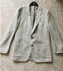 Sivi oversized sako blazer vel L-XL