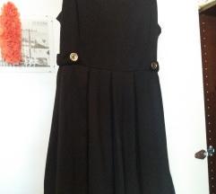 Crna zimska haljina HM