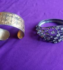 Narukvice zlatna, srebrna i šarena