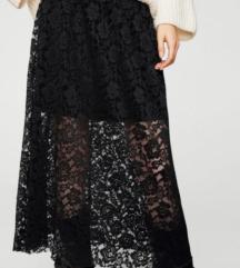 Suknja Mango crna čipka *Nova*