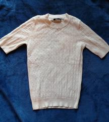 Bijela pletena majica kratkih rukava