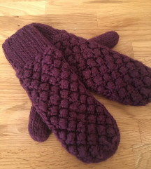 H&m ljubičaste tople rukavice