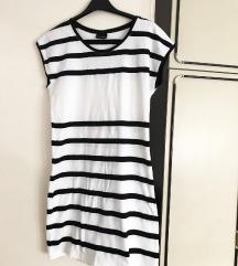 Haljina pamucna crno bijela na pruge 😍