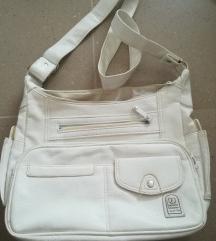 bijela torbica skaj krem
