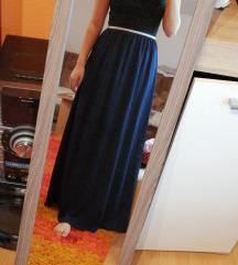 Duga tamno plava suknja