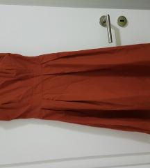orsay smeđa haljina