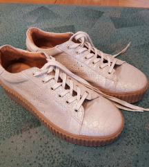 Kožne cipele - tenisice s platformom