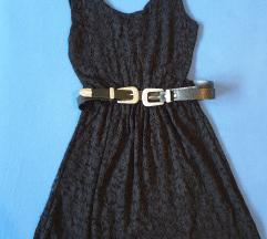 Crna haljinica sa cipkom S/M
