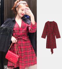 Nova karirana Zara haljina S