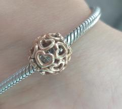 Pandora rose gold privjesak