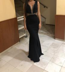 Duga svecana crna haljina