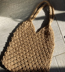 Pletena midi torbica
