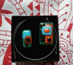 Unikat ogrlica i prsten od keramike NOVO