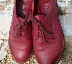 Bordo kožne cipele
