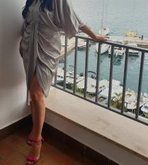 Zara srebrna haljina s prorezom