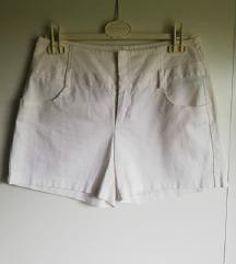 sisley bijele svečane kratke hlače
