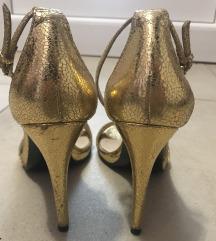 ZARA zlatne sandale na petu 39