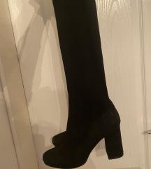 Zara crne čizme preko koljena 39