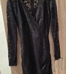 Crna cipkana haljina