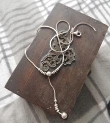 Vintage srebrna ogrlica 925