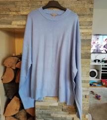 Plavi HM plus size pulover