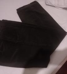 Tamnozelene muške samt hlače