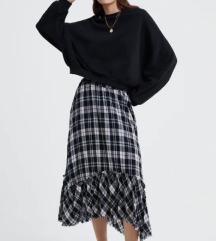Karirana Zara suknja