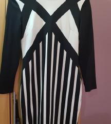 crno bijea haljina h&m