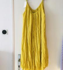 NOVA žuta haljina univerzalne veličine