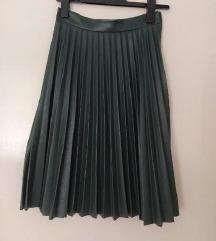 Plisirana karirana suknja 36, S - 70 kn